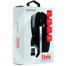 Мышь беспроводная Qumo Office M15 Style 3 кнопки, 800-1000dpi черная