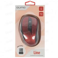Мышь беспроводная Qumo Office Line Red M62 6 кнопок, 800-1600dp программируемая красная