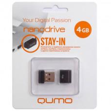 Флeш-накопитель USB 2.0 4GB Qumo Nano Black QM4GUD-NANO-B