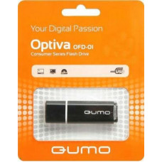 Флeш-накопитель USB 2.0 4GB Qumo Optiva 01 Black QM4GUD-OP1-black