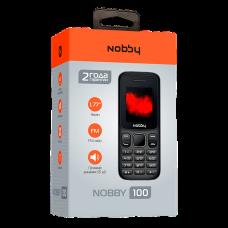 """Телефон Nobby 100 (1,77"""", 600mAh, 2 SIM, громкий динамик) серо-черный"""