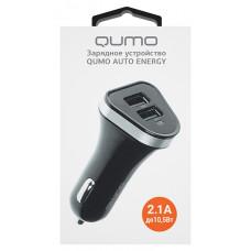АЗУ Qumo 2.1A 0017 для USB двухпортовое черное