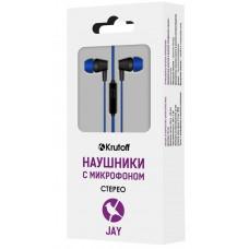 Наушники с микрофоном Krutoff Jay синие