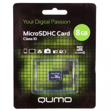 Карта памяти Qumo microSDHC 8Gb Class 10 без адаптера QM8GMICSDHC10NA