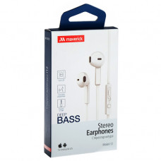 Наушники-гарнитура Maverick Deep Bass i12 белые
