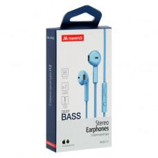 Наушники-гарнитура Maverick Deep Bass i12 голубые