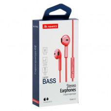 Наушники-гарнитура Maverick Deep Bass i12 красные