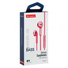 Наушники-гарнитура Maverick Deep Bass i12 розовые
