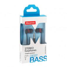 Наушники-гарнитура Maverick Deep Bass KM-229 черно-красные