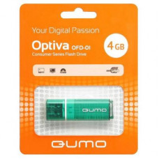 Флeш-накопитель USB 2.0 4GB Qumo Optiva 01 Green QM4GUD-OP1-green