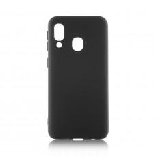 Накладка силиконовая BmCase для Samsung A60/M40 матовая черная