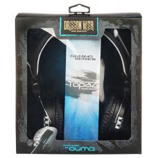 Игровые наушники с микрофоном полноразмерные Qumo Topaz накладные черные