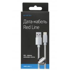 Кабель Red Line USB to Apple Lightning 1m нейлоновый черный
