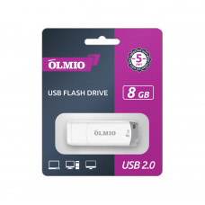 Флeш-накопитeль USB 2.0 Partner/Olmio U-181 8GB белый