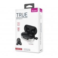 Bluetooth-наушники Partner/Olmio True TWE-07 в тканевом кейсе серые