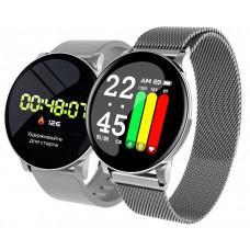 Умные часы Smarterra SmartLife UNO серебро(2ремешкаметаллический+силикон)