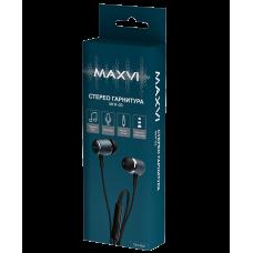 Наушники с микрофоном Maxvi MHF-03 темно-синие
