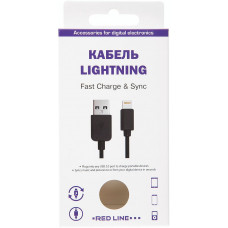 Кабель Red Line USB to Apple Lightning 1.2m черный