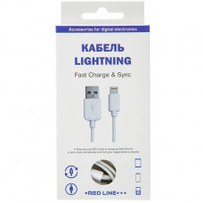 Кабель Red Line USB to Apple Lightning 1.2m белый