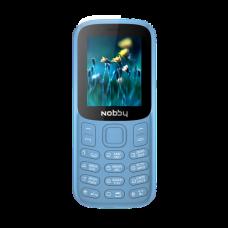 """Телефон Nobby 120 (1,77"""", 800mAh, 2 SIM, камера, громкий динамик) светло-синий"""