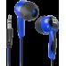 Наушники Defender Basic 604 внутриканальные черно-голубые