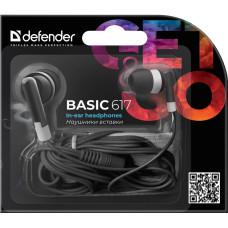Наушники Defender Basic 617 внутриканальные черные