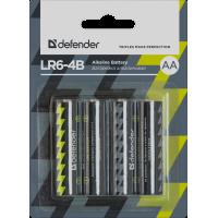 Батарейка алкалиновая Defender LR6 AA (цена за 4 шт., блистер)
