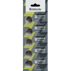 Батарейка литиевая Defender CR2032 (цена за 5 шт., лента)