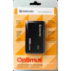 Картридер Defender Optimus 5 слотов USB 2.0
