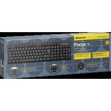 Клавиатура проводная Defender Focus HB-470 черная