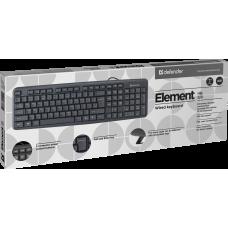 Клавиатура проводная Defender Element HB-520 черная