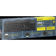 Клавиатура проводная Defender Atlas HB-450 черная