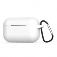 Чехол силиконовый Borasco для Apple AirPods Pro белый