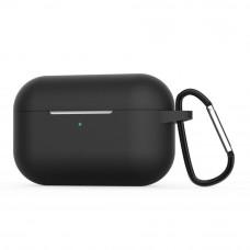 Чехол силиконовый Borasco для Apple AirPods Pro черный