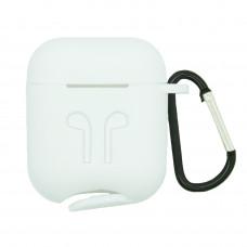 Чехол силиконовый Borasco для Apple AirPods белый
