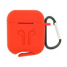 Чехол силиконовый Borasco для Apple AirPods красный