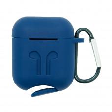 Чехол силиконовый Borasco для Apple AirPods темно-синий