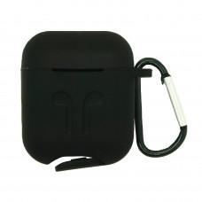 Чехол силиконовый Borasco для Apple AirPods черный