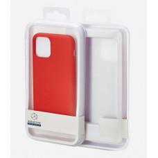 Накладка силиконовая Breaking Soft-Touch для Apple iPhone 11 (микрофибра внутри) красная