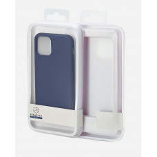 Накладка силиконовая Breaking Soft-Touch для Apple iPhone 11 Pro Max (микрофибра внутри) синяя