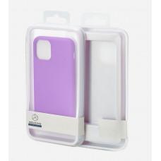 Накладка силиконовая Breaking Soft-Touch для Apple iPhone 11 Pro Max (микрофибра внутри) фиолетовая