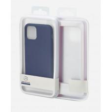 Накладка силиконовая Breaking Soft-Touch для Apple iPhone X/XS (микрофибра внутри) синяя