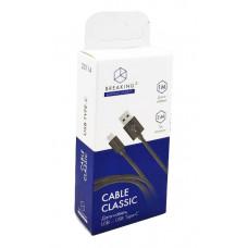 Кабель Breaking USB to Type-C 1м 2.4А Classic белый
