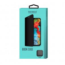 Чехол-книжка Borasco Book Case для Xiaomi Redmi Note 9 Pro/9S (микрофибра внутри), эко-кожа, черный