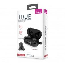 Bluetooth-наушники Partner/Olmio True TWE-07 в тканевом кейсе черные