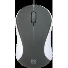 Мышь проводная Defender Accura MS-970 3 кнопки,1000dpi серо-белая