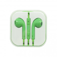 Наушники Oxion (аналог EarPods) зеленые