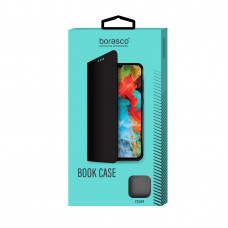 Чехол-книжка Borasco Book Case для Xiaomi Redmi Note 9 Pro/9S (микрофибра внутри), эко-кожа, синий