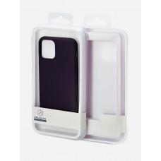 Накладка силиконовая Breaking Soft-Touch для Samsung Galaxy A11 (A115) (микрофибра внутри) черная