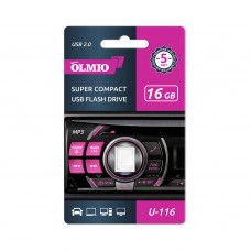 Флеш-нaкoпитель USB 2.0 Partner/Olmio U-116 16GB белый